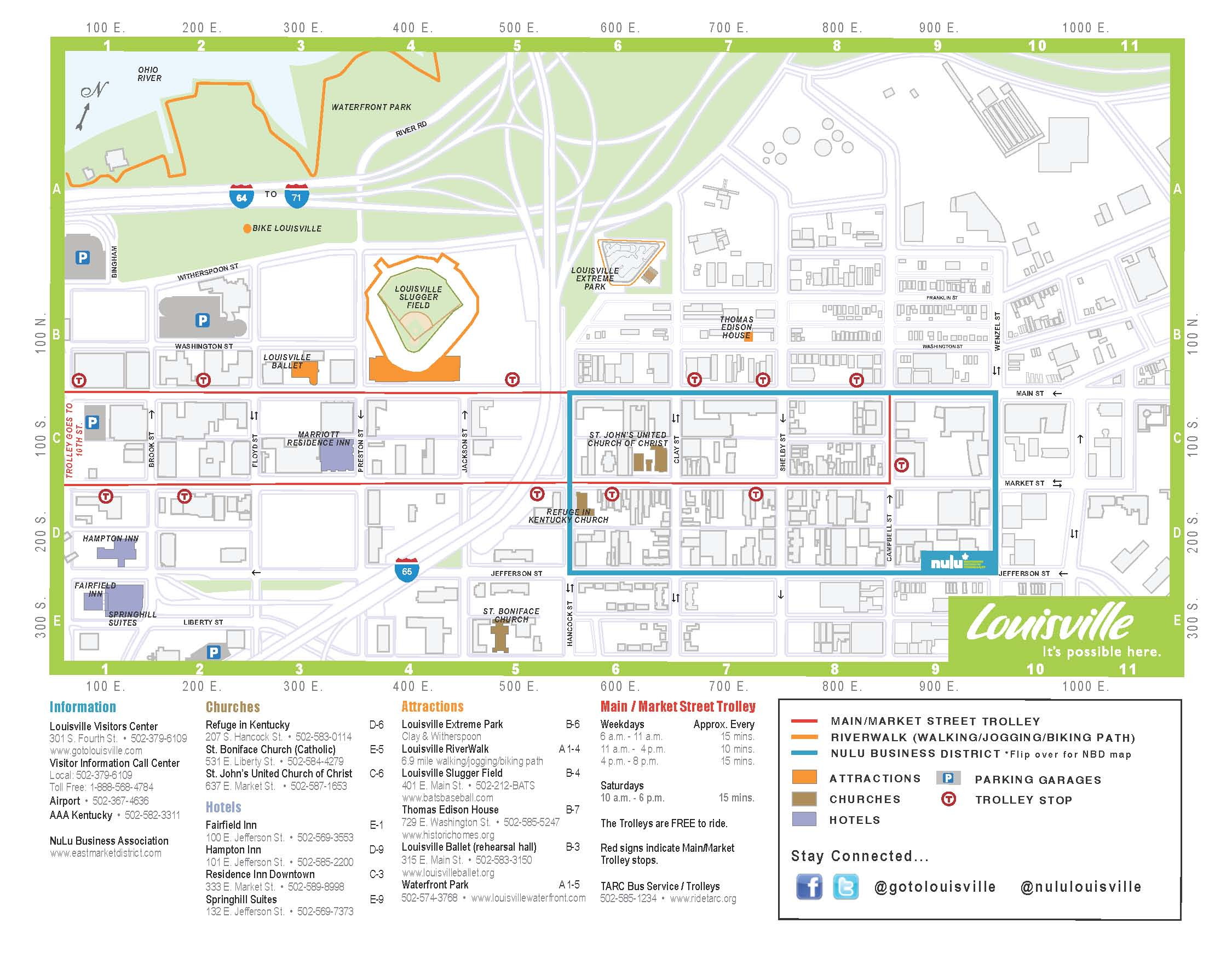 NuLu Releases Official Visitors Map – Louisville Tourist Attractions Map